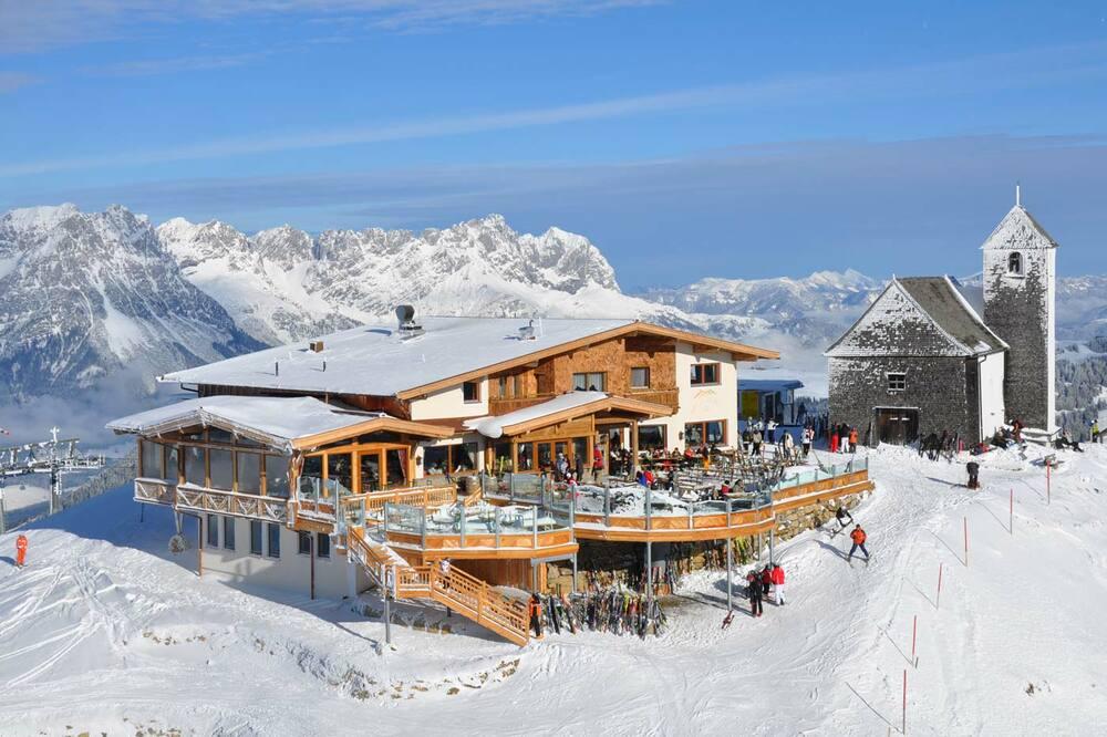 8 berghutten voor een lekkere lunch in Skiwelt