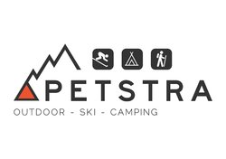 Logo Petstra Kampeer, Ski en Outdoor